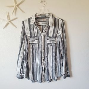 Merona Striped Button Up Flannel